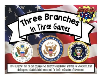 Three Branches of Government in Three Games