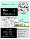 Three Branches of U.S. Government Reading Passage Government