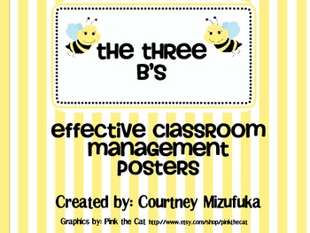 Three B's: Effective Class Management Rules