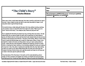 """""""The Child's Story"""" by Charles Dickens: Annotation Organizer"""