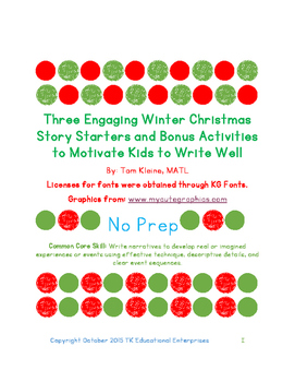 Christmas Stories For Kids.Three Christmas Story Starters And Bonus Activities To Help Kids To Write