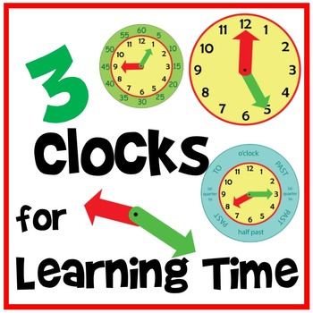 Three Clocks for Learning Time - Tactile Fun!
