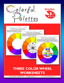 Three Color Wheel Worksheets - Elements of Art - Color