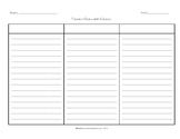 Three Column Chart Graphic Organizer - Critical Thinking Skills