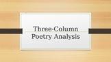Three-Column Poetry Analysis Power Point