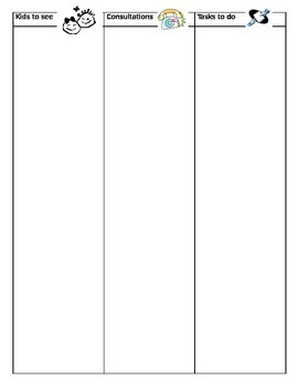 Three Column To Do List