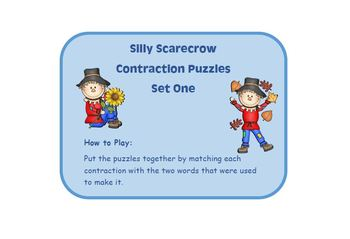Three Complete Puzzle Sets for Contractions and Compound Words