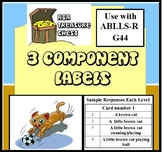 Three Component Labels: What do you see? ABLLS-R G44, Autism ABA