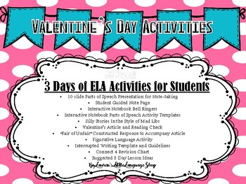 Three Days of Valentine's Day Activities and Lessons