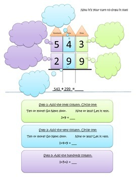 Three Digit Adding with regrouping mini unit