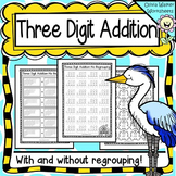Three Digit Addition Worksheets, Printables - With and Without Regrouping