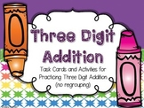 Three Digit Addition Activities and Task Cards (no regrouping)