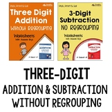 Adding and Subtracting 3 Digit Numbers With Regrouping Worksheets