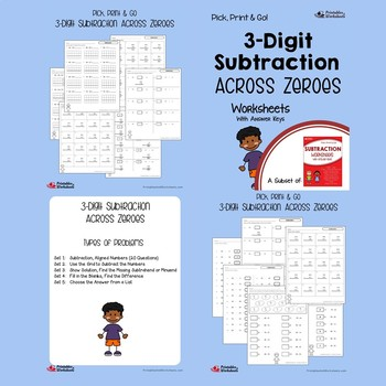 Addition and Subtraction of 3 Digits Worksheets No Regrouping