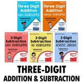 3-Digit Addition And Subtraction Centers Worksheets, With And Without Regrouping