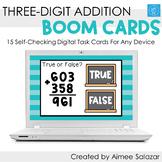 Three-Digit Addition Boom Cards / Digital Task Cards / Dis