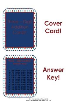 Three-Digit Addition Cards!
