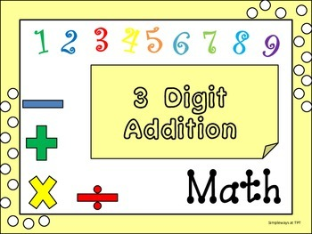 Three Digit Addition Cards