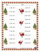 Three Digit Addition - Christmas Themed Worksheets - Horizontal