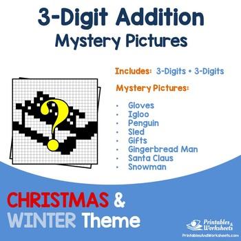 Three Digit Addition - Christmas, Winter