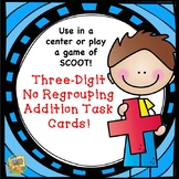 Three-Digit Addition NO Regrouping Task Cards! Grades 2-4