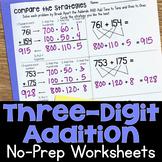 Three-Digit Addition No-Prep Printable Practice Worksheets