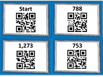 Three Digit Addition QR Code Scavenger Hunt