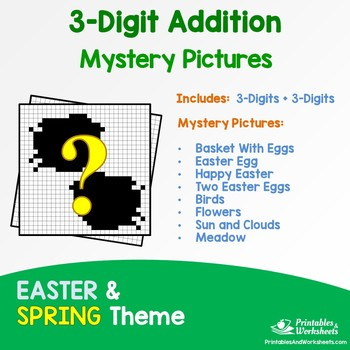 Three Digit Addition - Spring, Easter