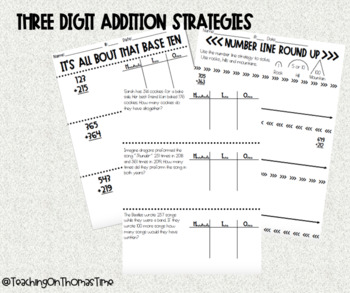 Three Digit Addition Strategies
