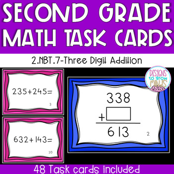 2.NBT.7 Task Cards- Three Digit Addition