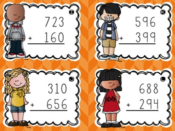Three-Digit Addition Task Cards {Mixed With & Without Regrouping}