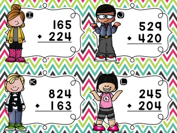Three-Digit Addition Task Cards {No Regrouping}