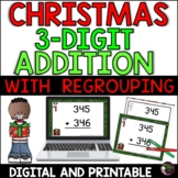 Three-Digit Addition WITH regrouping (Christmas)