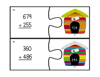 """Three-Digit Addition With & Without Regrouping """"In the Doghouse"""""""