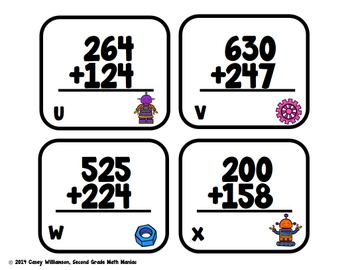 Three Digit Addition Without Regrouping Around the Room