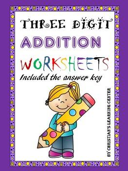 Three-Digit Addition Worksheets