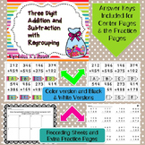 Three Digit Addition and Subtraction Center and Printables