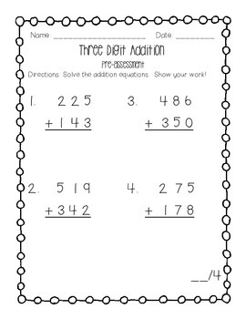 Three Digit Addition and Subtraction BUNDLE