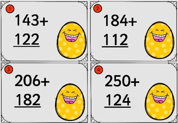 Three Digit Addition and Subtraction Cards