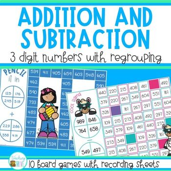 Three Digit Addition and Subtraction Games