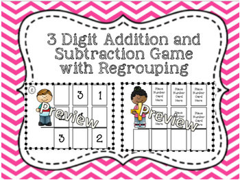 Three Digit Addition and Subtraction Games with Regrouping