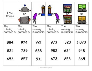 Three Digit Addition and Subtraction Scoot
