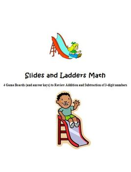Three Digit Addition and Subtraction: Slides and Ladders