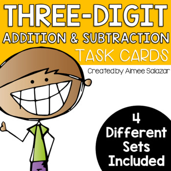 Three-Digit Addition and Subtraction Task Cards