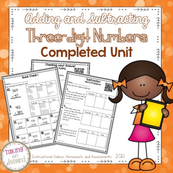 Three-Digit Addition and Subtraction Unit: Instructional Videos, Tests, Homework