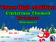 Three Digit Addition and Subtraction Worksheet Bundle - Christmas (60 Pages)