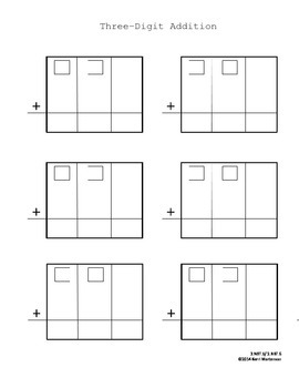 three digit addition with regrouping by kerri mortenson tpt. Black Bedroom Furniture Sets. Home Design Ideas