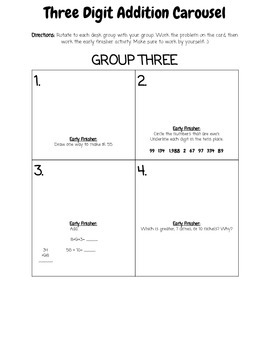 Three Digit Addition with Regrouping