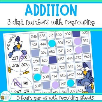 Three Digit Addition with Regrouping - Addition Games