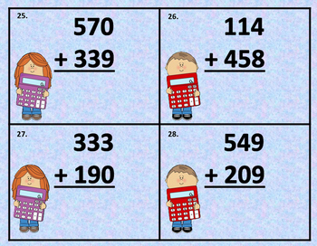 "Three-Digit Addition with Regrouping ""SCOOT"" Game (2.NBT.B.7)"